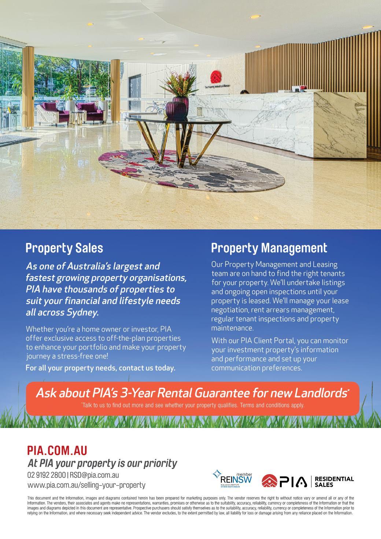 PIA ResidentialSalesDepartment Brochure